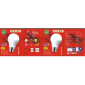 LED Bulb 12 Watts  Aluminium Body (Pack of 5 Bulbs)