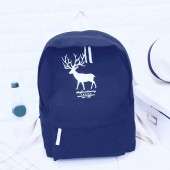Casual Animal Printed Canvas Students School Backpack Bag