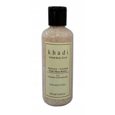Khadi Natural Herbs Aloevera-Coconut with Shea Butter Herbal Body Scrub
