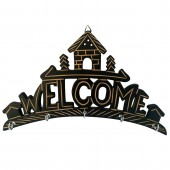 Wooden Key Holder - Welcome