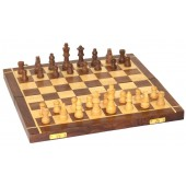 Wooden Handmade Standard Classic Chess Board Game Foldable (Non-Magnetic)