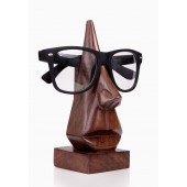 Unique Hand Carved Rosewood Nose-Shaped Eyeglass Spectacle Holder (1)